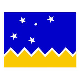 Magallanes, bandera de Chile, la Antártida Postales