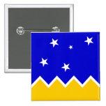 Magallanes, Chile, Antarctica flag Pinback Button