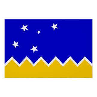 Magallanes, Chile, Antarctica flag Poster