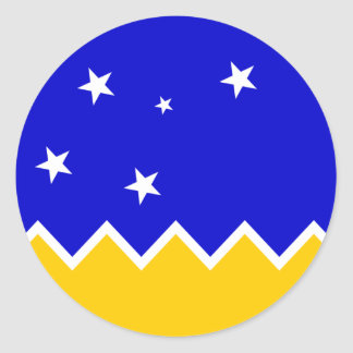 Magallanes Patagonia/Patagonian Flag. Chile Classic Round Sticker