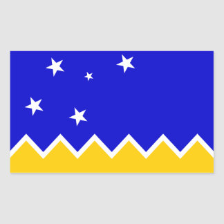 Magallanes Patagonia/Patagonian Flag. Chile Rectangular Sticker