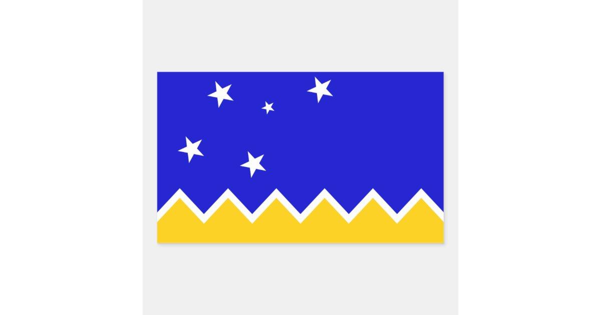 magallanes patagonia patagonian flag chile rectangular sticker