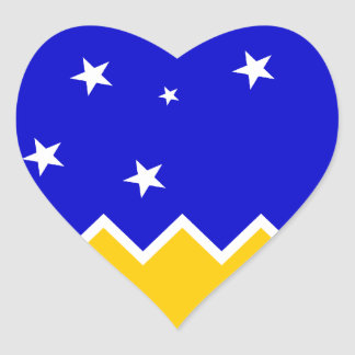 Magallanes Patagonia/Patagonian Flag. Chile Heart Stickers