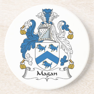 Magan Family Crest Beverage Coasters
