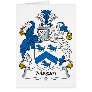 Magan Family Crest Card