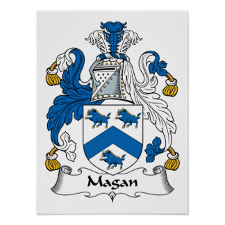 Magan Family Crest Posters