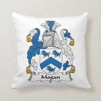 Magan Family Crest Throw Pillows