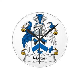 Magan Family Crest Wallclock