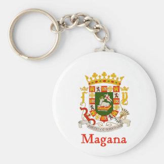 Magana Shield of Puerto Rico Basic Round Button Keychain