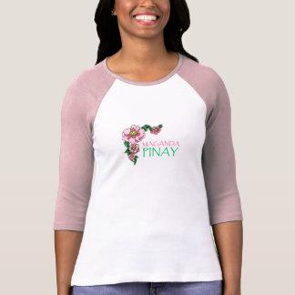 """""""Maganda Pinay"""" Pink Baseball Jersey Tee Shirts"""