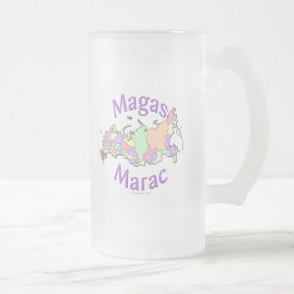 Magas Russia Frosted Glass Beer Mug