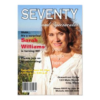 Magazine Cover 70th Birthday Party Invitation