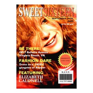 Magazine Cover Photo Sweet Sixteen Birthday Invite