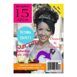 Magazine Cover Quinceanera 15th Invitation