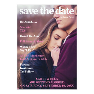 MAGAZINE COVER | SAVE THE DATE CARD