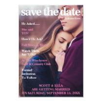 MAGAZINE COVER | SAVE THE DATE INVITATION