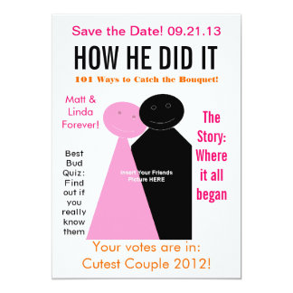 Magazine Edition Save The Date Card
