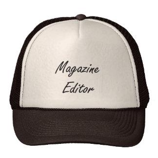 Magazine Editor Artistic Job Design Trucker Hat