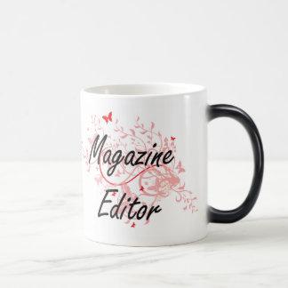 Magazine Editor Artistic Job Design with Butterfli Magic Mug
