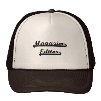 Magazine Editor Classic Job Design Trucker Hat