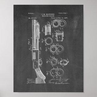Magazine-firearm Patent - Chalkboard Poster