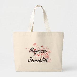 Magazine Journalist Artistic Job Design with Heart Jumbo Tote Bag