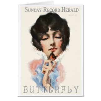 """""""MAGAZINE MINIS"""" 1913  BUTTERFLY COVERART GREETING CARD"""