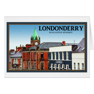 Magazine Street in Londonderry Greeting Cards