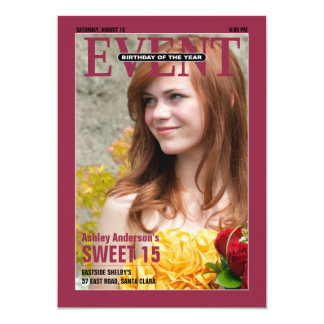 Magazine Sweet 15 Birthday Invitation | Photo