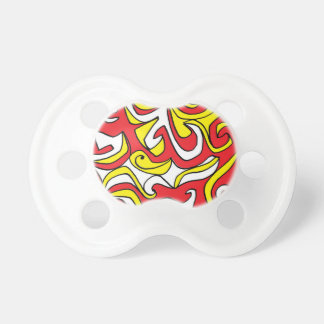 Magby Abstract Expression Yellow Red BooginHead Pacifier