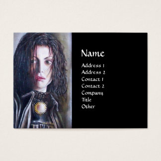 MAGDALEN black white brown yellow Business Card
