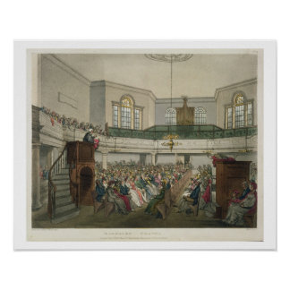 Magdalen Chapel, from 'Ackermann's Microcosm of Lo Poster