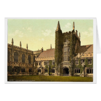 Magdalen College, Founder's Tower and Cloisters, O Card