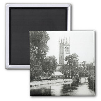 Magdalen College from the Cherwell 2 Inch Square Magnet