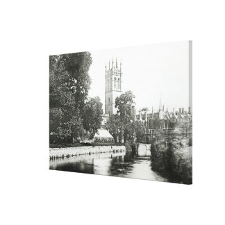 Magdalen College from the Cherwell Canvas Print