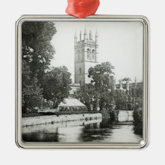 Magdalen College from the Cherwell Metal Ornament