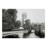 Magdalen College from the Cherwell Print
