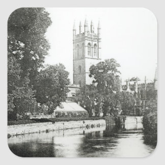 Magdalen College from the Cherwell Square Sticker