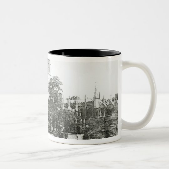 Magdalen College from the Cherwell Two-Tone Coffee Mug