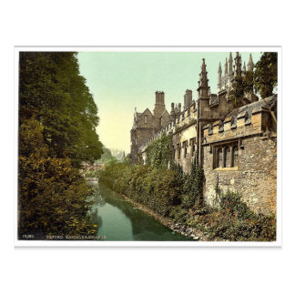 Magdalen College, from the river, Oxford, England Postcard