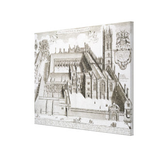 Magdalen College, Oxford, from 'Oxonia Illustrata' Canvas Print