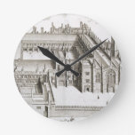Magdalen College, Oxford, from 'Oxonia Illustrata' Round Wallclock