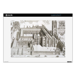 Magdalen College, Oxford, from 'Oxonia Illustrata' Decal For Laptop