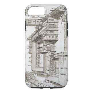 Magdalen College, Oxford, from 'Oxonia Illustrata' iPhone 7 Case