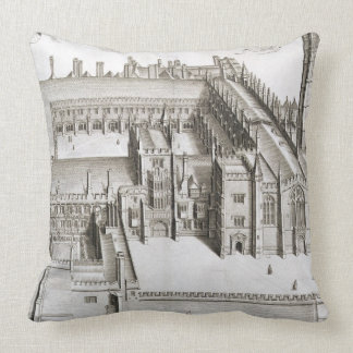Magdalen College, Oxford, from 'Oxonia Illustrata' Throw Pillow