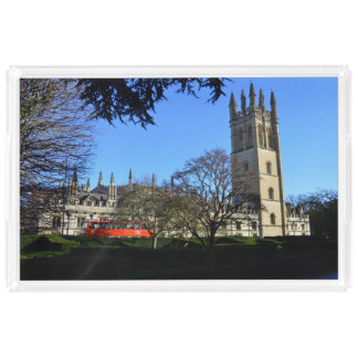 Magdalen College Oxford University England Acrylic Tray