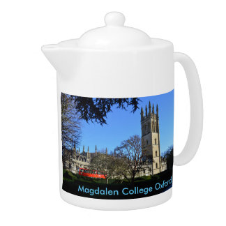 Magdalen College Oxford University England Teapot