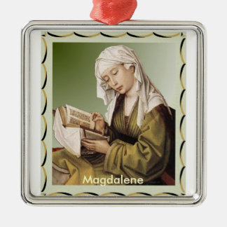 Magdalen_Reading_Weyden Square Metal Christmas Ornament