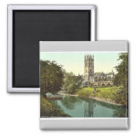 Magdalen Tower, from the river, Oxford, England ma Fridge Magnet