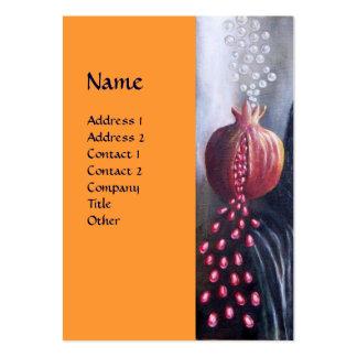 MAGDALEN,Yellow orange Large Business Card
